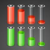Batterie illustrazione vettoriale