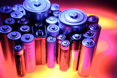 Batterie Fotografia Stock