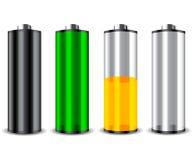 batterie 4 réglée Image stock