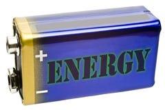 Batterie 9V von der Seite Stockbilder