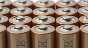Batterie AA Immagine Stock