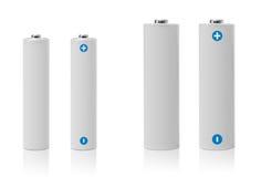 Batterie aa e sorgente di energia elettrica del AAA Fotografia Stock Libera da Diritti