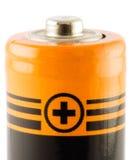 Batterie aa. Positief stock afbeelding