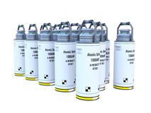 Batterie atomique illustration stock