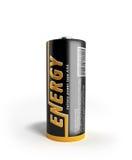 Batterie-Bild der Illustrations-3D mit Beschneidungspfad auf Weiß Lizenzfreie Stockfotografie