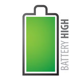 Batterie complètement Photographie stock libre de droits