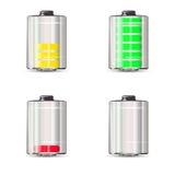 Batterie con la tassa differente Illustrazione Vettoriale