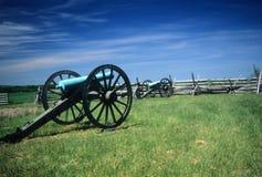 Batterie d'artillerie de Napoleon images libres de droits