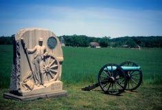 Batterie d'artillerie de Napoleon photo libre de droits