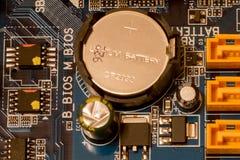 Batterie d'horloge d'ordinateur Photo stock