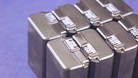 Batterie de groupe pour des caméscopes banque de vidéos
