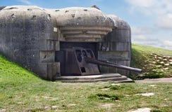 Batterie De Longue-Sur-Mer, Normandie Stockfoto
