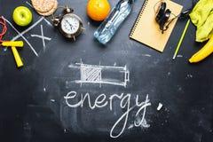 Batterie de méthode différente d'énergie d'économie de concept Photographie stock