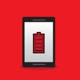 Batterie de téléphone basse Photos libres de droits