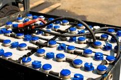 Batterie de traction d'un chariot élévateur Photos libres de droits
