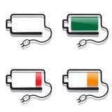 Batterie della tassa dei colori differenti Royalty Illustrazione gratis