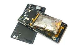 Batterie der abgelaufenen oder niedrigen Qualität Stockbild