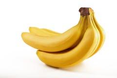 Batterie des bananes fraîches d'isolement Photographie stock libre de droits