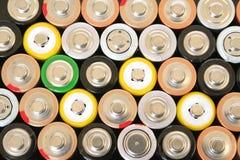 Batterie di aa Fotografie Stock