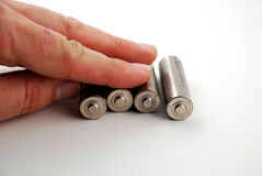 Batterie di aa Immagini Stock Libere da Diritti