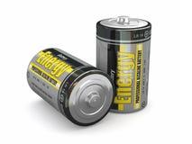 Batterie di energia Fotografia Stock Libera da Diritti