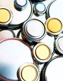 Batterie di litio Fotografie Stock Libere da Diritti