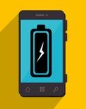 Batterie, die Smartphonedesign neulädt Lizenzfreie Stockfotos