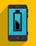 Batterie, die Smartphonedesign neulädt Lizenzfreies Stockfoto