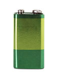 Batterie getrennt auf Weiß Stockfotos