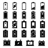 Batterie-Ikonensatz Lizenzfreie Stockfotografie