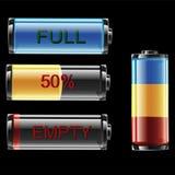 Batterie-Indikator Lizenzfreie Stockbilder