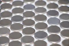 Batterie per l'orologio Fondo, struttura fotografie stock