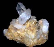 Batterie rare de pierre de quartz Photos libres de droits