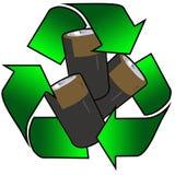 Batterie riciclate Fotografia Stock