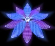 Batterie solaire - fleur Photos libres de droits