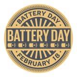 Batterie-Tagesstempel Stockbild