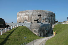 Batterie Todt, Calais, Frankrijk. Stock Fotografie