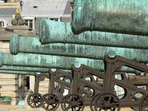 Batterie triomphale des Invalides, Paris. View of the ¨Batterie triomphale¨ ( Battery triumphant ) cannons in front of L´Hotel des Invalides, París ( royalty free stock images