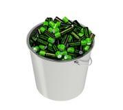 Batterie in un secchio Immagine Stock Libera da Diritti
