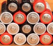 Batterie utilizzate Fotografia Stock