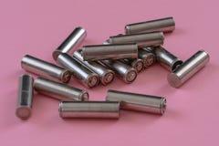 Batterie utilizzate per riciclare fotografie stock libere da diritti