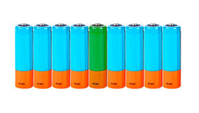 Batterie von ??. Collage Lizenzfreie Stockfotografie