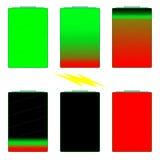 Batteriedauer-Indikatoren lizenzfreies stockbild