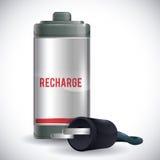 Batterieenergiedesign Stockfotografie