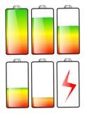 Batterieenergieniveaus lizenzfreie abbildung