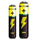 Batterieikone, Batterievektor, Batterie lokalisierte Ikonen Stockbild
