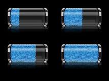 Batterieikone eingestellt mit Luftblasenformat Lizenzfreie Stockbilder