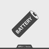Batterieikone für Netz und Mobile Lizenzfreies Stockbild