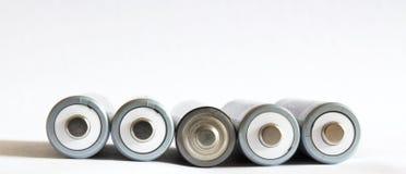 Batterien AA Rechargable Lizenzfreies Stockfoto
