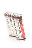 Batterien auf Weiß Lizenzfreies Stockfoto